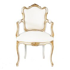Palais French Armchair | Gold U0026 Ivory French Chair