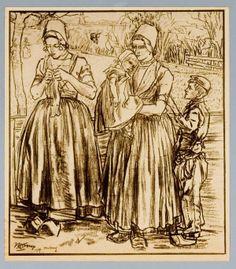 Jan Toorop  Twee vrouwen met twee kinderen, 1904 gedateerd Koninklijke Kunstzaal Kleykamp 1918-10-22 #Zeeland #Walcheren