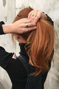 These Are L.A.'s Most In-Demand Spring Hair Color Trends+#refinery29 A single process golden copper base color with a few strategic highlights, if needed, for dimension.