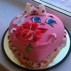 Photo By Homemade 'Chocolates n Cakes' - Cake Beautiful Cake Designs, Beautiful Cakes, Amazing Cakes, Heart Shaped Cakes, Heart Cakes, Cupcakes, Cupcake Cakes, Menu Saint Valentin, Valentines Day Cakes