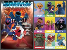 Sesame Street Rock-and-Roll 2-Poster Combo  ~ Available at www.sportsposterwarehouse.com