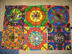 Jamestown Elementary Art Blog: Reporting.... What I learned about Mexican Mandalas and Radial Symmetry!