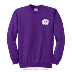 Monogrammed Crewneck Sweatshirt - Purple – Ace & Ivy ************************************* $27.99 (Reg. $34.99!)