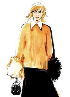 michael kors. Fashion illustration by Alena Lavdovskaya