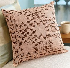 Crochet beyond the basics ready to take your crochet to the next level crochet beyond the basics by rita weiss and susan lowman brings you a sampling of 10 time honored crochet techniques with beautiful projects to put your new skills to practice features Crochet Cushion Cover, Crochet Pillow Pattern, Crochet Quilt, Crochet Cushions, Crochet Motif, Crochet Doilies, Crochet Stitches, Crochet Patterns, Filet Crochet