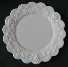 "Westmoreland Paneled Grape Dinner Plate, 10½"". Such a pretty plate.  $12.00 at myantiquestore on ebay, 9/8/15"