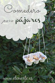 Comedero para pajaros casero / www.elenarte.es