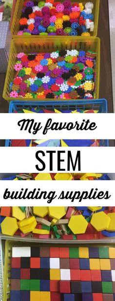My favorite STEM building supplies – Science Time Math Stem, Stem Science, Stem Activities, Classroom Activities, Morning Activities, Primary Classroom, Kindergarten Stem, Stem Preschool, Classroom Supplies