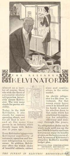 1920s Antique Kelvinator Art Deco Refrigerator Kitchen Appliance Butler Maid Ad | eBay Deco, Maid, 1920s, The Help, Antiques, Ebay, Vintage, Products, Art Deco