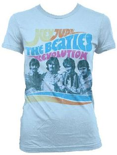 JR GIRLS HEY JUDE BLUE TEE [5127] - $22.00 : Beatles Gifts, The Fest for Beatles Fans