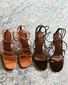 Shoes - Leather lace up stiletto heels with criss cross spider foot straps in Black and Tan Lace Up Heels, Black Heels, Pumps Heels, Stiletto Heels, High Heels, Tan Heels, Shoes Sandals, Burgundy Heels, Green Heels