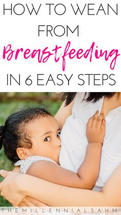 To Easily Wean From Breastfeeding Weaning your toddler from breastfeeding can be tough - but it doesn't have to be. Check out these 6 tips to make weaning from breastfeeding a bit easier. Weaning From Breastfeeding Weaning Breastfeeding, Stopping Breastfeeding, Breastfeeding Problems, Extended Breastfeeding, Pregnant And Breastfeeding, Baby Kicking, Thing 1, Baby Arrival, Pregnant Mom