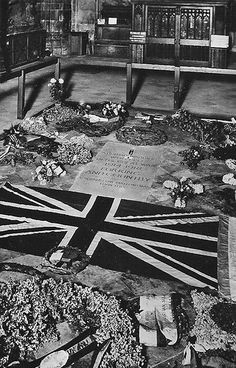 The Tomb of the Unknown Warrior in Westminster Abbey, London, together with the…