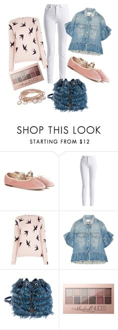 """Think pink"" by stylebysabrie ❤ liked on Polyvore featuring Valentino, Barbour International, Oasis, MSGM, Chanel, Maybelline and Marjana von Berlepsch"