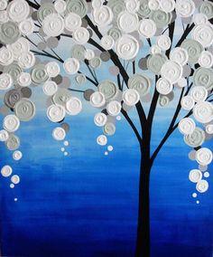 Textured Tree <Acrylic on Canvas>