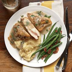 Stuffed with prosciutto and provolone cheese, our 40-minute Stuffed Chicken and Herb Gravy is quick and simple. The Creamy Polenta is a...