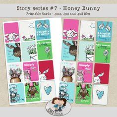 SoMa Design: Honey Bunny Cards Hooray Hooray, Honey Bunny, Printable Cards, Digital Scrapbooking, Design, Art, Craft Art, Printable Maps, Kunst