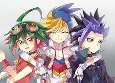 Yuto, Yugo and Yuya Sakaki  Yugioh Arc-v