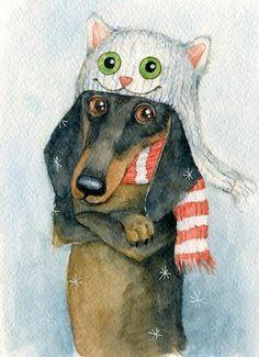 Christmas Dachshund Decor  #dachshund #christmas #dog #pet #doxie #weiner