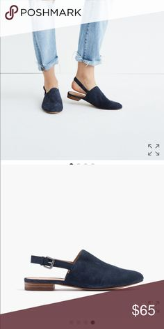Madewell Callie slipper flat in suede-New! A slipper mule meets a slingback in this so-easy style that can go from office-to-after (all year round). The transitional shoe, mastered. Brand new in box! Madewell Shoes