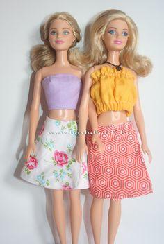 Kétoldalon hordható Barbie lapszoknya./ Barbie skirt