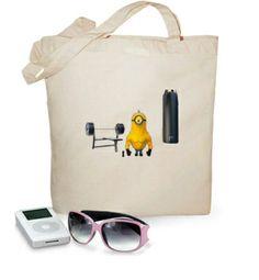 Bolsa Minion Gym #camiseta #minions http://www.latostadora.com/emcmasquecamisetas