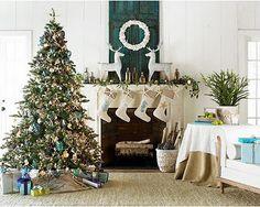 coastal christmas decor love the dark shutters with my signature color - Christmas Decorating Ideas Beach House