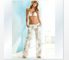 the beach pant in linen are the greatest linen pants there ever were! i have them in white & black but LOVE this print. Spring Summer Fashion, Spring Outfits, Swim Cover Ups, Cute Pjs, Beach Pants, Estilo Fashion, Fashion Beauty, Womens Fashion, Linen Pants