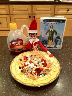 Elf watches elf for inspiration.