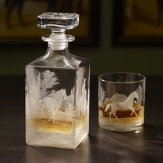 Wild Horses Whiskey Decanter