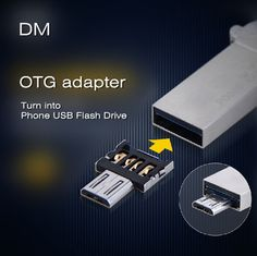 New DM OTG adapter OTG function Turn into Phone USB Flash Drive Mobile Phone Adapters Free shipping