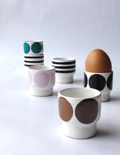 Egg cups by Camilla Engdahl.