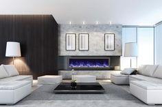 "Amantii 60″ wide x 6 3/4"" deep Built-in Electric Fireplace (BI-60-SLIM)"