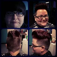Top left, before.. Pompadour after!!! Thanks @alishamary !!