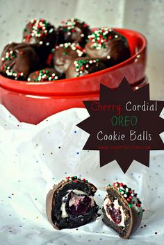 Recipe For Cherry Cordial Oreo Cookie Balls - Delicious, simple goodness of an OREO cookie ball, a bite-sized treat made with three easy ingredients.