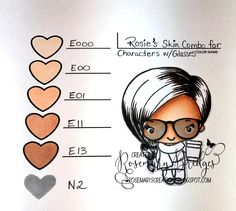 Copic Marker Colors: Tip Me Tuesday-Skin Series : The Greeting Farm – Clear Stamps, Rubber Stamps, Cardmaking USA Coloring Tips, Doodle Coloring, Copic Pens, Copics, Copic Markers Tutorial, Copic Ciao, Spectrum Noir Markers, Arc Notebook, Silhouette Cameo Tutorials
