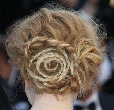 www.weddbook.com everything about wedding ♥ Nicole Kidman's Amazing Swirl-Braid Bun #weddbook #wedding #hair