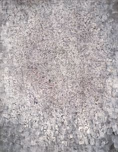 Mark Tobey: White Journey, 1956 White travel Colored paste on paper on Pavatex, 113.5 x 89.5 cm Photo: Peter Shibli, Basel