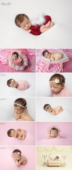 Lots of pinks and creams in this gorgeous studio newborn photo shoot for baby girl. Sunny S-H Photography Winnipeg