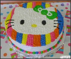 My sister's Birthday Cake. I've made cakes for every one of her birthdays so far. The theme was obviously Hello Kitty. n__n Hello Kitty . Torta Hello Kitty, Hello Kitty Birthday Cake, Hello Kitty Pictures, Crazy Cakes, Cupcakes, Cat Party, Party Treats, Birthday Parties, Birthday Ideas