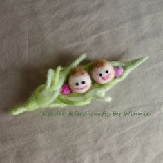 Two Peas in a Pod brooches Handmade Needle felted jewelery