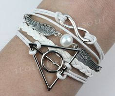 Infinity Harry Potter Snitch & Deathly Hallows Charm by itouchsoul, $5.99