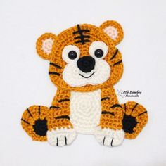 Crochet Animals Applique Knitting And Crocheting Crochet Applique Patterns Free, Crochet Motifs, Crochet Animal Patterns, Stuffed Animal Patterns, Crochet Animals, Amigurumi Patterns, Crochet Stitches, Knitting Patterns, Crochet Appliques