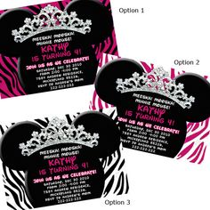 Pink Princess Theme First Birthday Party Invitation Card Singapore - Birthday invitation cards singapore