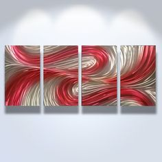 Metal Wall Art Decor Abstract Contemporary Modern by InspiringArt