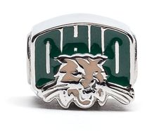 Ohio University OU Logo Bead Charm - Fits Pandora and Others - Go Bobcats! ** Check this awesome product by going to the link at the image.