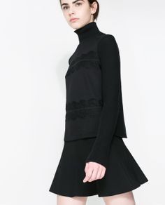 ZARA - NEW THIS WEEK - COMBINATION LACE SWEATER