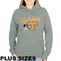 Tennessee Volunteers Plus Sizes Signature Mascot Pullover Hoodie - Gray