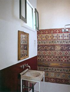 Reclaimed wall tiles, Italy