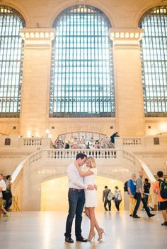 Grand Central: http://www.stylemepretty.com/new-york-weddings/new-york-city/2015/06/12/8-charming-engagement-session-spots-in-new-york-city/